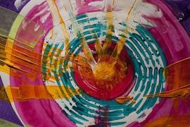 Schilderijbehang  met Abstracte Kunst - Zonder titel nr. 04