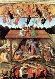 Schilderijbehang  met Religieuze Kunst - Geboorte van Jezus