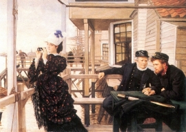 Schilderijbehang -Tissot - The Daughter of the Master