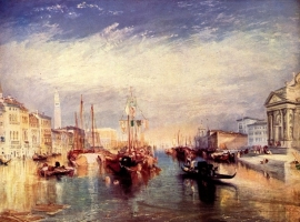 Schilderijbehang -Turner - Venice from the Porch of Madonna