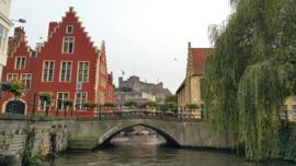 Fotobehang - Gent - Ghent canals