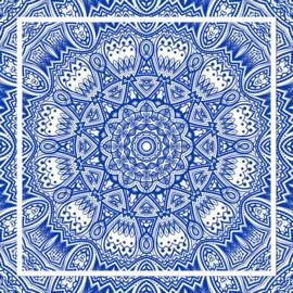 Fotobehang - Mandala - blauw