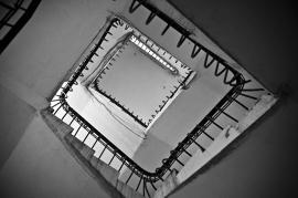 Fotobehang - Zwart-Wit - Trap 3 -Stairs 3
