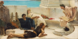 Schilderijbehang Alma Tadema - A reading from Homer