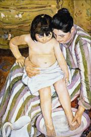 Schilderijbehang - Renoir - The bath
