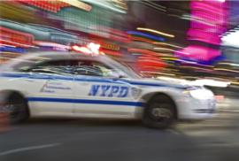Fotobehang - Kinderkamer - Politiewagen NYPD