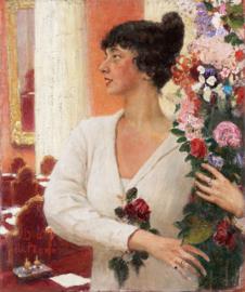 Schilderijbehang - Repin - Portret van Beatrice Levi