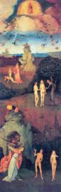 Schilderijbehang - Jeroen Bosch - De Hel ( Triptiek ) Left Table
