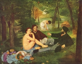 Schilderijbehang - Manet - Morning break