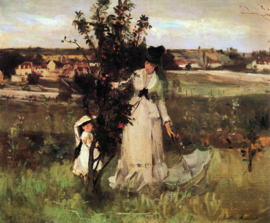 Schilderijbehang - Morisot - Hide and seek