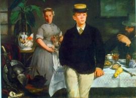 Schilderijbehang - Manet - Luncheon