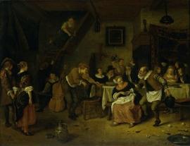 Schilderijbehang  Jan Steen - Boerenbruiloft