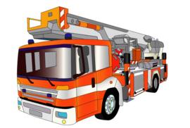 Fotobehang - Kinderkamer - Brandweerwagen