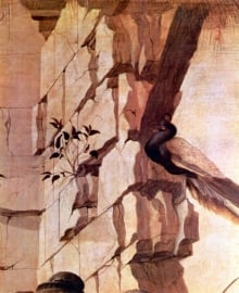 Schilderijbehang Botticelli - Zanobi (detail)