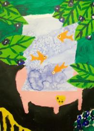 Schilderijbehang - Matisse - Goldfish