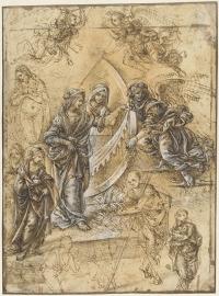 Schilderijbehang  met Religieuze Kunst - Madonna, heilige Vrouwen, Engelen en Figuren