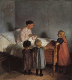Schilderijbehang - Anna Ancher - The little brother