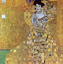 Schilderijbehang - Klimt - Portret of Adele Block Bauer