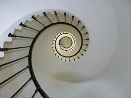 Fotobehang - Zee & Strand - Vuurtoren Trap -Lighthouse Staircase