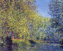 Schilderijbehang - Monet - A bend in the Epte at Giverney
