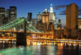 Fotobehang New York - Big apple after sunset