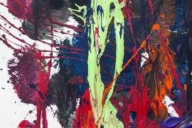 Schilderijbehang  met Abstracte Kunst - Zonder titel nr. 08