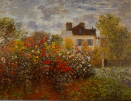Schilderijbehang - Monet - Argenteuil