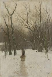 Schilderijbehang - Mauve - Winter in de Scheveningse bosjes