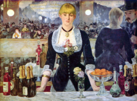 Schilderijbehang - Manet - Bar in the Folies-Bergere