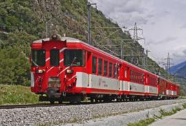 Fotobehang - Treinen - Fotobehang Trein Matterhorn - Train Matterhorn