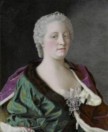 Schilderijbehang - Liotard - Maria Theresia van Oostenrijk