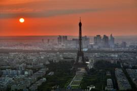 Fotobehang - Woonkamer - Eiffeltoren