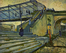 Schilderijbehang - Van Gogh - The bridge at Trinquetaille