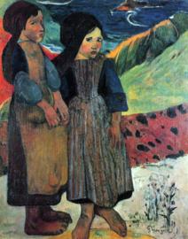 Schilderijbehang - Gauguin - Breton near sea