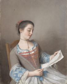 Schilderijbehang - Liotard - La Liseuse