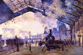 Schilderijbehang - Monet - Old St. Lazarre station
