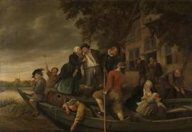 Schilderijbehang  Jan Steen - Het vrolijk Huiswaarts keren
