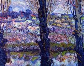 Schilderijbehang - Van Gogh - View of Arles