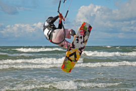 Fotobehang - Kinderkamer - Kite surfen