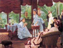 Schilderijbehang -Tissot - Unrivaled