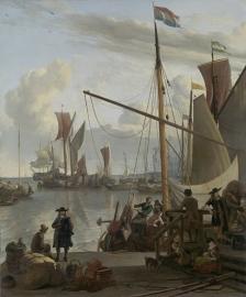 Schilderijbehang  Ludolf Backhuysen - Het IJ voor Amsterdam