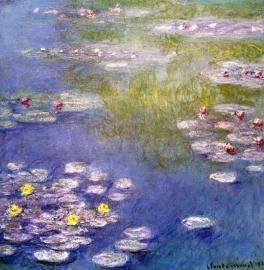 Schilderijbehang - Monet - Nympheas at Giverny