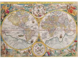 Fotobehang Woonkamer - Wereldkaart oud