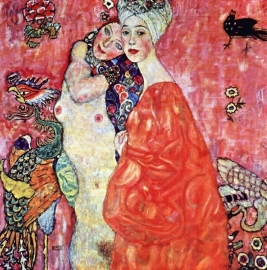 Schilderijbehang - Klimt - The Girlfriends
