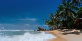Fotobehang - Woonkamer - Tropisch strand