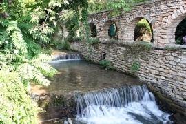Fotobehang - Waterval - Waterval bij muur - Wall waterfall