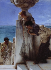 Schilderijbehang Alma Tadema - A foregone Conclusion