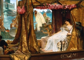 Schilderijbehang Alma Tadema - Anthony and Cleopatra