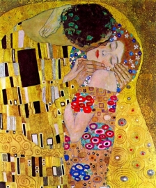 Schilderijbehang - Klimt - De Kus / The Kiss