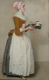 Schilderijbehang - Liotard - The Chocolate Girl - Chocolade meisje